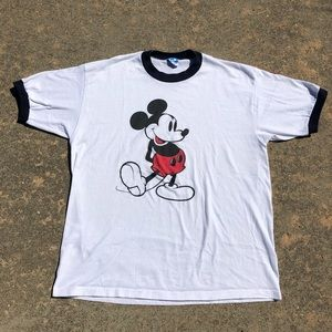 Vintage 80s Mickey Mouse Capped T-shirt